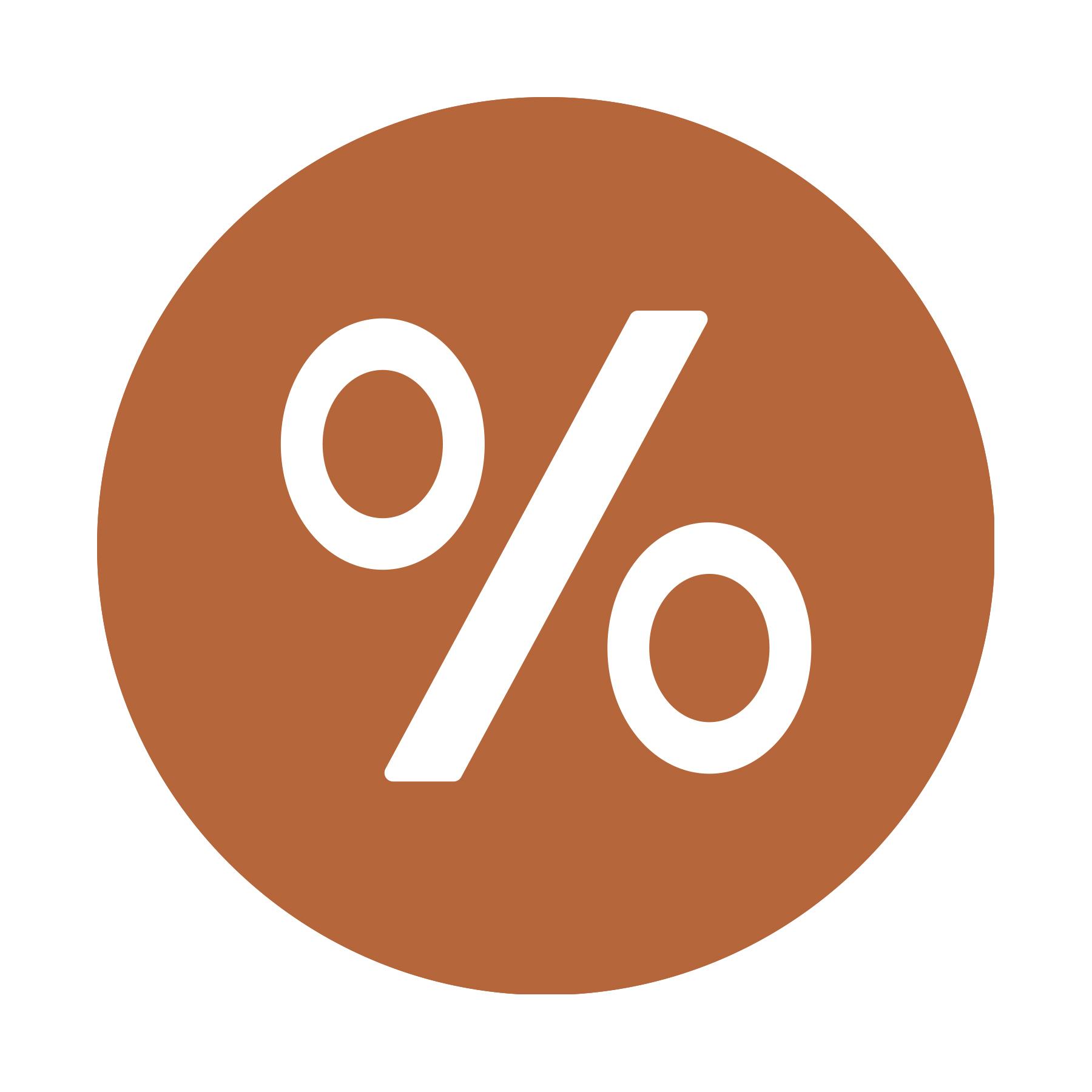 icon with percent symbol