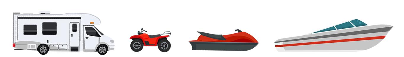 camper atv jetski boat